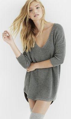 metallic express london tunic sweater from EXPRESS
