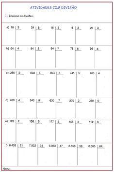 Resolvendo as Divisões | Sala de Aula – Profª Rérida Math Charts, Christmas Math, Mathematics, Curriculum, Teaching, School, Class Activities, Teaching Plot, Infant Lesson Plans
