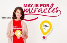 """""""May is for Miracles! Multiple North American retailers, thousands of employees and millions of supporters are committed to helping kids get better. Kid like Camery, who was born with DiGeorge Syndrome, a rare and complicated genetic disorder.  Visit http://cmnh.co/2GUbV8g to learn more about how you can help. #MayisforMiracles"""""""