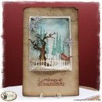 Tammy Tutterow Tuesday Tutorial: Vintage Christmas Cabinet Card