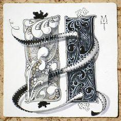 Zentangle: Ebony and Ivory by Maria