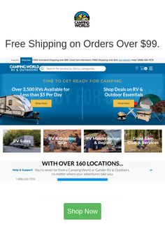 Best deals and coupons for Camping World