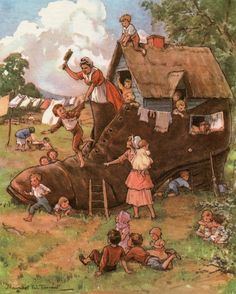 Margaret Tarrant The Old Woman who Lived in a Shoe.
