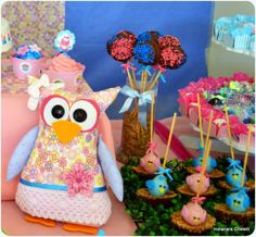 cake pops and my 1ª owl