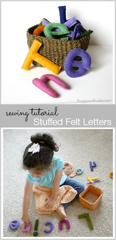 Alphabet Letters (Sewing Tutorial) Make your own stuffed felt letters! (Perfect for hands-on learning and make great baby shower gifts too!)~ Make your own stuffed felt letters! (Perfect for hands-on learning and make great baby shower gifts too! Homemade Toys, Homemade Gifts, Diy Gifts, Sewing Toys, Sewing Crafts, Sewing Projects, Felt Diy, Felt Crafts, Felt Letters
