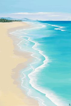 You are in the right place about Beach Vacation teens Here we offer you the most beautiful pictures about the Beach Vacation nails you are looking for. When you examine the part of the picture you can Beach Art, Ocean Beach, Ocean Waves, Palm Beach, Beach Sunset Painting, Summer Painting, Summer Beach, Strand Wallpaper, Ocean Wallpaper