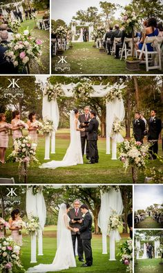 Outdoor wedding ceremony - Avila Golf & Country Club - Gary Kaplan Photography