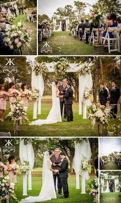Outdoor wedding ceremony - Avila Golf & Country Club - Gary Kaplan Photography