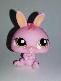 Littlest Pet Shop Pink Bunny Rabbit Brown Eyes #1770 Preowned LPS in Toys & Hobbies, Preschool Toys & Pretend Play, Littlest Pet Shop | eBay