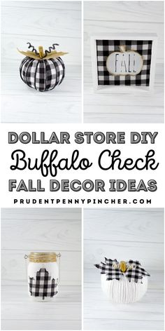 Give your home a cozy, neutral fall farmhouse style on a budget with these dollar store buffalo check fall decor ideas. From DIY buffalo check pumpkins to buffalo check fall centerpieces, there are plenty of fall decorations to make using dollar tree supplies. These dollar tree fall crafts are a perfect way to add some country charm to your home without breaking the bank. Fall Crafts For Adults, Easy Fall Crafts, Diy Fall Wreath, Fall Diy, Dollar Store Crafts, Dollar Stores, Wood Pumpkins, Painting Pumpkins, Dollar Tree Fall