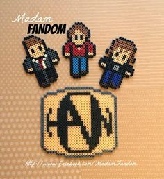 HANSON set of 4 Ornaments or Magnets (Perler Beads) by MadamFandom on etsy