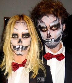 Face painting SKULL HALLOWEEN by www.BarbaraRizzuti,com.ar