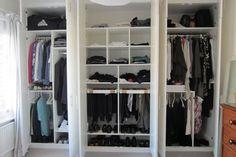 Thought through wardrobe space