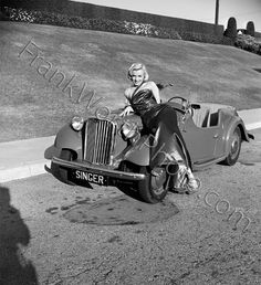 Marilyn Monroe on Car Set of How to Marry a Millionaire 1953