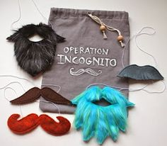 Totally Got to try these beards and mustaches  for the boys some time. 65 Genius Gift Ideas to Make at Home | Glamumous!