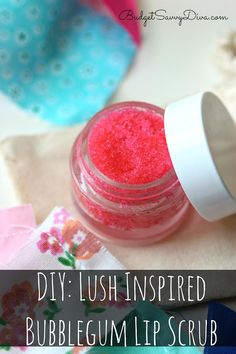 DIY: Lush Inspired Bubblegum Lip Scrub - MUST PIN and MAKE!