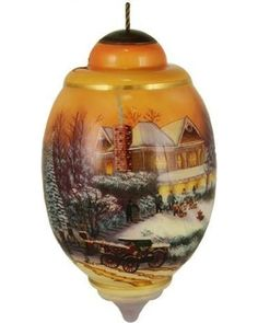 "Ne'Qwa Ne'Qwa ""Victorian Christmas II"" Hand-Painted Blown Glass Christmas Ornament #7131146 from Walmart   BHG.com Shop"