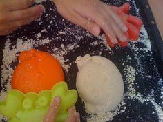 Diy-Zaubersand | kinderinfoblog Archive, Blog, Ice Cream, Desserts, Diy, Activities For Toddlers, Play Dough, Homemade, No Churn Ice Cream