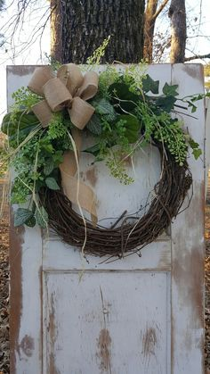 BEST SELLER Front door wreath, Greenery Wreath - Wreath Great for All Year Round - Everyday Burlap Wreath, Door Wreath, Front Door Wreath