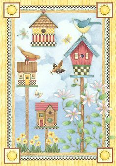Birdhouses - Art by Debbie Mumm