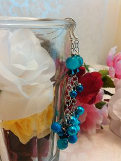 Excited to share the latest addition to my #etsy shop: Earrings Sky Blue and Turquoise Pierced Handmade Boho Teen Girl Women's Accessories Gift OOAK E#184 https://etsy.me/2uRcX89 #jewelry #earrings #blue #boho #earwire #stainlesssteel #no #women #sphereball