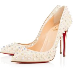 Christian Louboutin Follies Spikes (139590 RSD) ? liked on Polyvore  featuring louboutin
