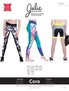 Jalie 3462 - Cora Running Tights and Shorts - Pattern Cover