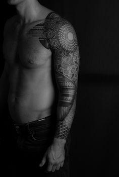 Tribal tattoo by László