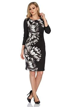 2081ef6ccbceb9 Roman Originals Women's Woolly Floral Print Dress - 18: Amazon.co.uk:  Clothing