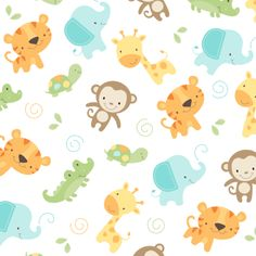 Jungle Babies fabric by maudie