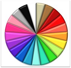 Organize Your Closet By Color: Pick a color (usually starting with white) and then work your way around the color wheel.