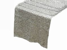 Maybe you're not looking to glitz the whole table of your #winter #wedding reception's tablescape. In that case - these Duchess Sequin Table Runners in Silver will do!
