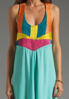 MARA HOFFMAN Corded Tank Maxi Dress in Mint - Mara Hoffman
