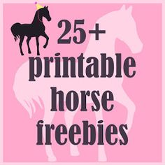 MeinLilaPark DIY Printables And Downloads Round Up Of 25 Printable Horse Pony Themed Freebies