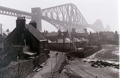 Forth Railway Bridge at North Queensferry. 1960