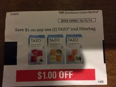 TAZO iced Filterbag ~ October 12, 2014 ~ $1.00 on ONE (1) (13)