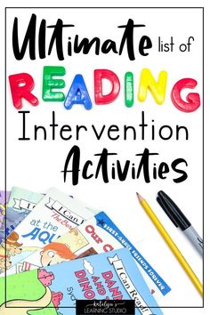 Reading Intervention Activities to Help your Struggling Readers