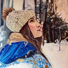 'Winter Walk' - Framed Original Oil Painting on Aluminium by Amanda Mulquiney-Birbeck