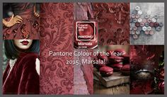 Pantone colour of the year 2015 - Marsala Inspiration Board #colour #pantone #2015 #calderdalecarpets #colourpalette #trend #colourtrend #marsala