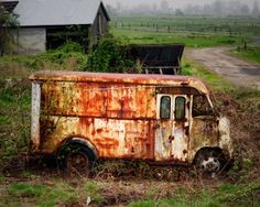 Rusty Ford Step Van, Cowlitz County, Washington, 2014 | Click the picture above for information on purchasing a fine art photography wall print for your home. | #trucks #vehicles #rural