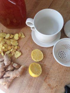 – Honey Ginger Lemon Tea – A Cold Reliever