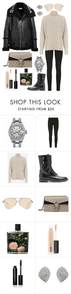 """""""You don't know how lovely you are"""" by theodor44444 ❤ liked on Polyvore featuring Rolex, 7 For All Mankind, LF Markey, Valentino, Victoria Beckham, Gucci, Nest Fragrances, MAC Cosmetics, Bobbi Brown Cosmetics and Monica Vinader"""