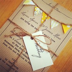 If you're searching for handmade wedding invitations with a summery, vintage twist then you'll love the stationery on offer at To Have & To Hold