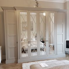 35 Bedroom Wardrobe Design Ideas Trending Right Now Bedroom Closet Doors, Wardrobe Design Bedroom, Bedroom Cupboards, Bedroom Wardrobe, Wardrobes For Bedrooms, Fitted Wardrobe Doors, Mirrored Wardrobe Doors, Large Living Room Furniture, Fitted Bedroom Furniture