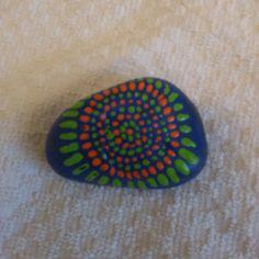 Painted Rock Dot Art Mandala Art by TwistedMindArt on Etsy