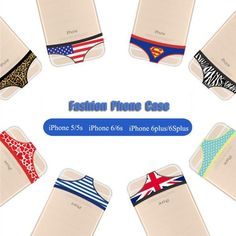 Fashion Underpants Knickers Couples TPU Case Cover For iPhone 5 S 6 6S Plus P239 #UnbrandedGeneric