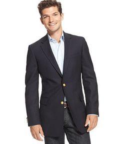 Tommy Hilfiger Navy Blazer Trim Fit - Blazers & Sport Coats - Men - Macy's