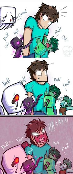 Owwww by Vruzzt on DeviantArt - Minecraft, Pubg, Lol and Minecraft Anime, Humor Minecraft, Craft Minecraft, Minecraft Pixel, Minecraft Ships, Minecraft Comics, Minecraft Drawings, Minecraft Banners, Minecraft Fan Art