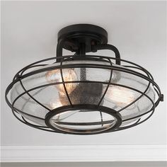 """West Loop Caged Ceiling Light (10""""Hx16""""W) $270 Cole"""