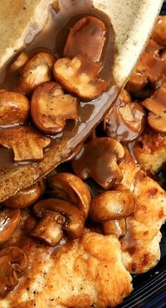 Chicken Marsala.Made with sauteed mushrooms in a marsala wine sauce. If you love mushrooms and chicken and have never tried chicken marsala, you're in for a real treat. Enjoy!